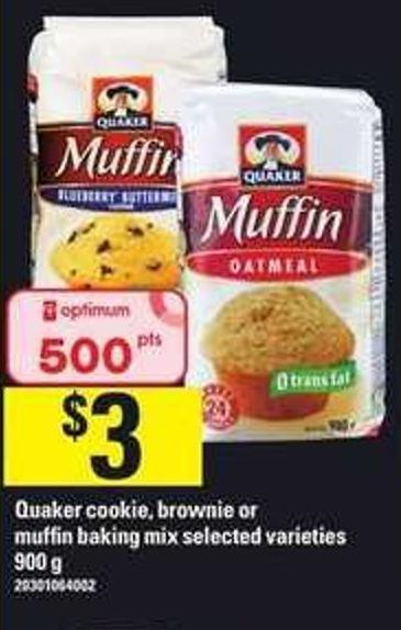 Quaker Cookie - Brownie Or Muffin Baking Mix - 900 G