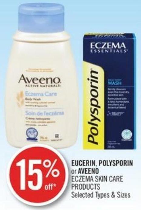 Eucerin - Polysporin or Aveeno Eczema Skin Care Products