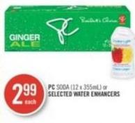 PC Soda (12 X 355ml) or Selected Water Enhancers