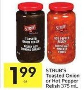 Strub's Toasted Onion Or Hot Pepper Relish