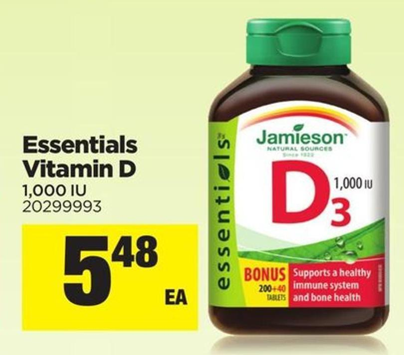 Essentials Vitamin D - 1.000 Iu