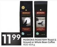 Muskoka Roastery Roast & Ground or Whole Bean Coffee