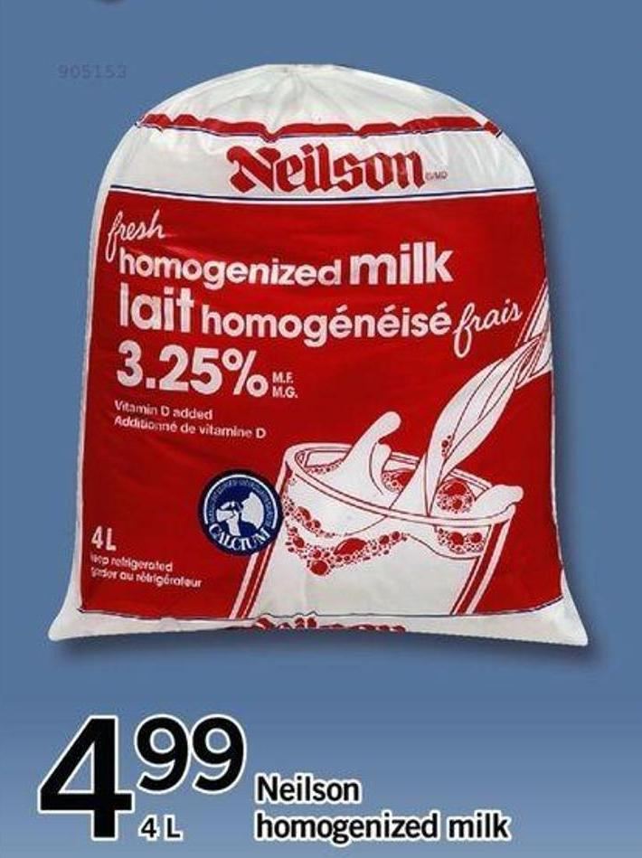 Neilson Homogenized Milk - 4 L