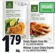 Simply Organic Gravy Mix 24 - 32g