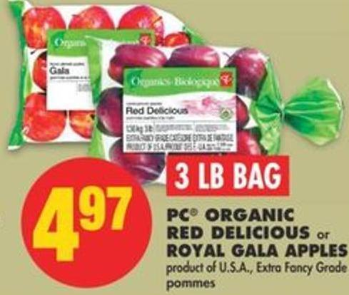 PC Organic Red Delicious or Royal Gala Apples - 3 Lb Bag