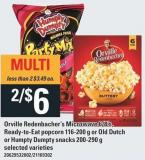 Orville Redenbacher's Microwave 6/8's - Ready-to-eat Popcorn 116-200 G Or Old Dutch Or Humpty Dumpty Snacks 200-290 G