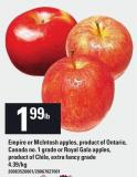 Empire Or Mcintosh Apples - Royal Gala Apples