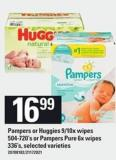 Pampers Or Huggies 9/10x Wipes - 504-720's Or Pampers Pure 6x Wipes - 336's