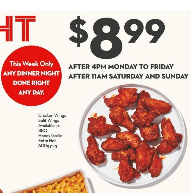 Chicken Wings Split Wings Available In: