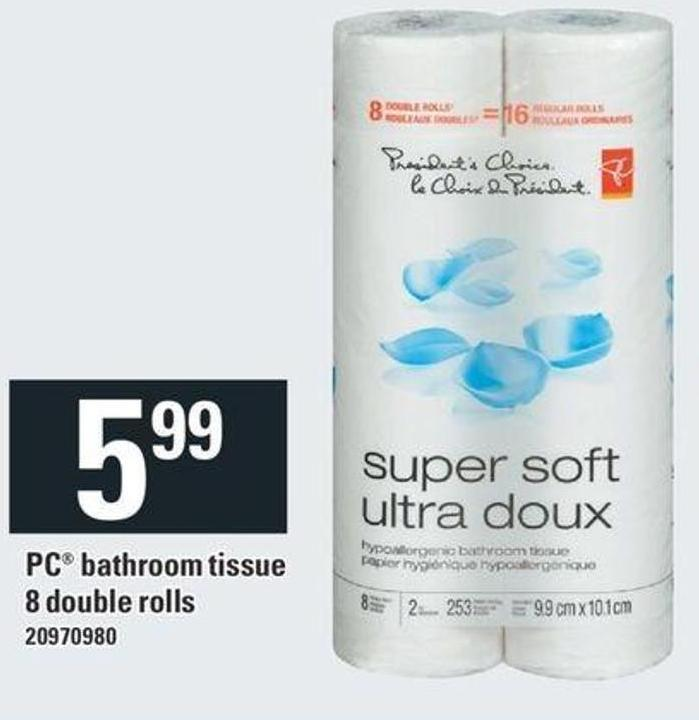 PC Bathroom Tissue - 8 Double Rolls