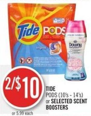 Tide PODS (10's - 14's) or Selected Scent Boosters