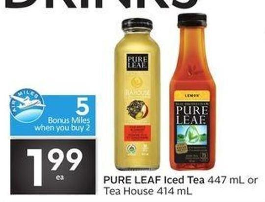 Pure Leaf Iced Tea - 5 Air Miles Bonus Miles