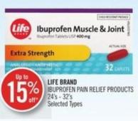 Life Brand Ibuprofen Pain Relief Products 24's - 32's