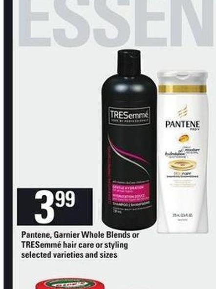 Pantene - Garnier Whole Blends Or Tresemmé Hair Care Or Styling