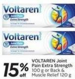 Voltaren Joint Pain Extra Strength 100 g or Back & Muscle Relief 120 g