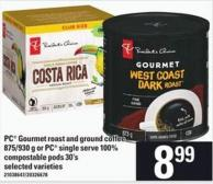 PC Gourmet Roast And Ground Coffee 875/930 G Or PC Single Serve 100% Compostable PODS 30's