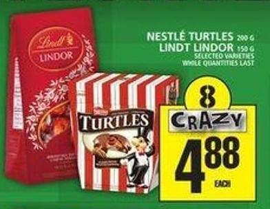 Nestlé Turtles Or Lindt Lindor