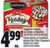 Chapman's Holiday Ice Cream Or Novelties