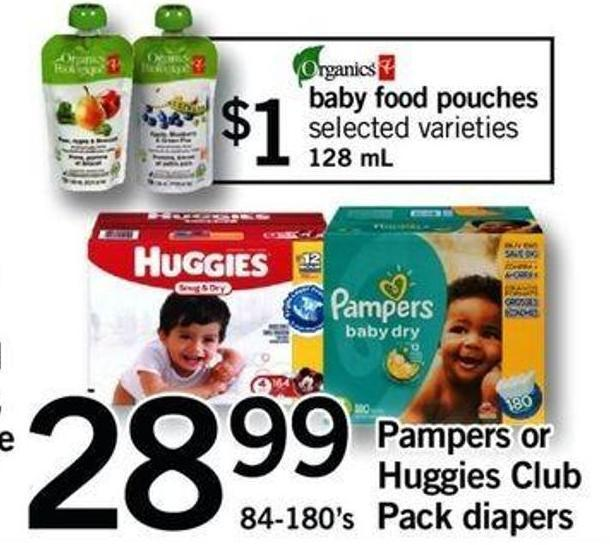 Pampers Or Huggies Club Pack Diapers - 84-180's