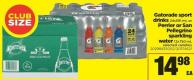 Gatorade Sport Drinks 24x591 Ml Or Perrier Or San Pellegrino Sparkling Water 12x750 Ml