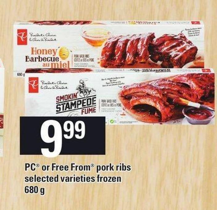 PC Or Free From Pork Ribs - 680 G
