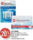 Life Brand Breath Strips (3 X 72's) - Oral Wound or Pain Relief Products