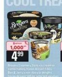 Breyers Creamery Style Ice Cream Or Confectionery Frozen Dessert - 1.66 L  - Ben & Jerry's Non-dairy Or Delights Frozen Dessert - 500 mL