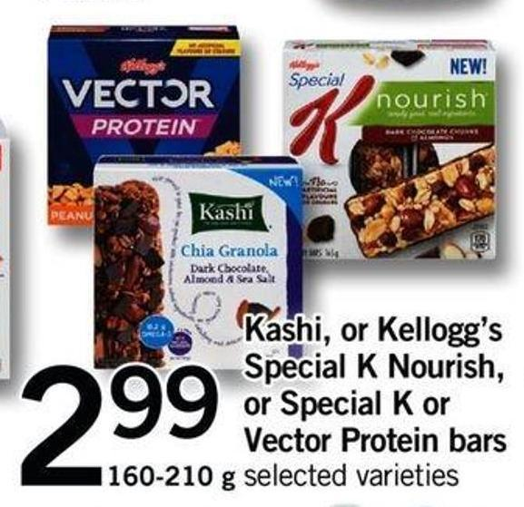 Kashi - Or Kellogg's Special K Nourish - Or Special K Or Vector Protein Bars - 160-210 G