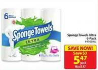 Spongetowels Ultra 6-pack