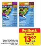 Hartz Ultraguard Pro Flea & Tick Treatment