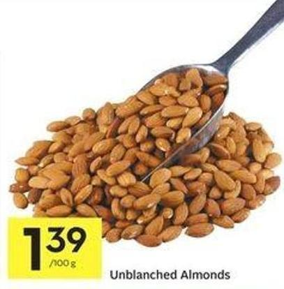 Unblanched Almonds