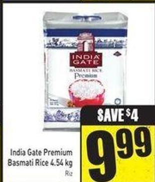 India Gate Premium Basmati Rice 4.54 Kg