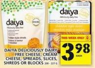 Daiya Deliciously Dairy Free Cheese - Cream Cheese - Spreads - Slices - Shreds Or Blocks