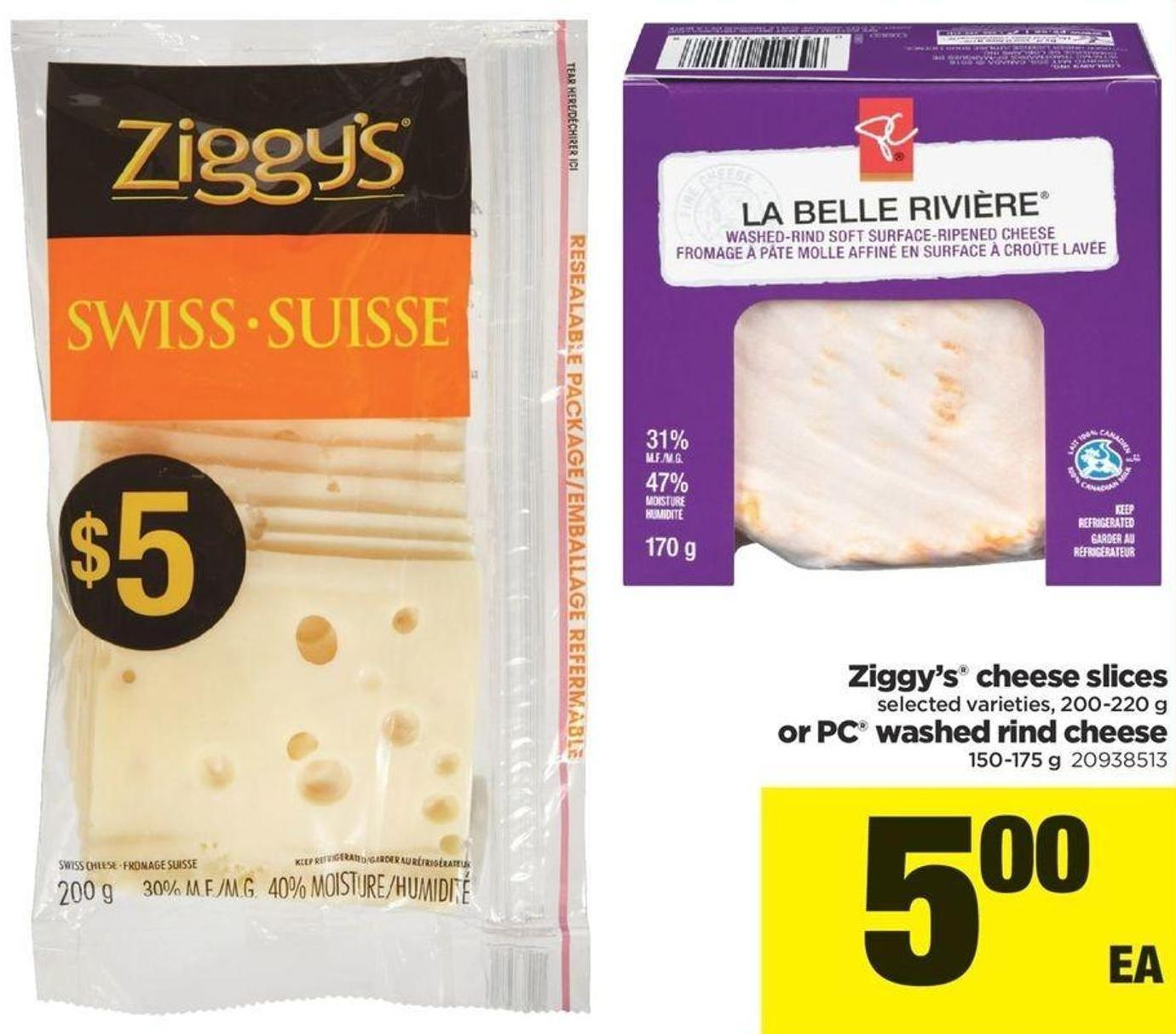 Ziggy's Cheese Slices - 200 220 G Or PC Washed Rind Cheese 150 175 G