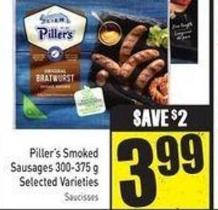 Piller's Smoked Sausages 300-375 g Selected Varieties