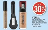 L'oréal Unlimited Mascara - Unbelieva Brow or Infallible Fresh Wear Foundation