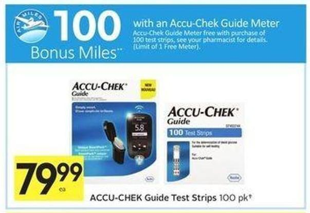 Accu-chek Guide Test Strips - 100 Air Miles Bonus Miles