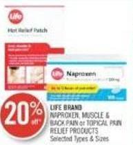 Life Brand Naproxen - Muscle & Back Pain or Topical Pain Relief Products