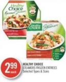 Healthy Choice Steamers Frozen Entrees