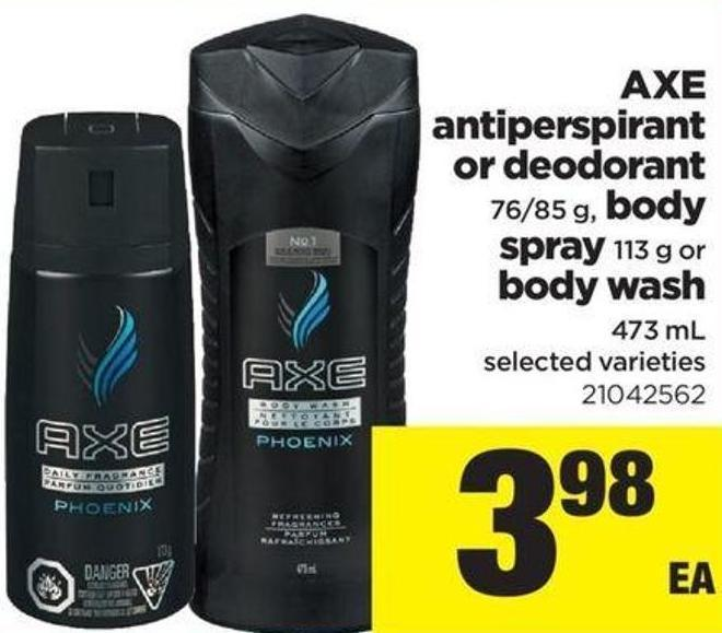 Axe Antiperspirant Or Deodorant 76/85 G - Body Spray - 113 G Or Body Wash - 473 Ml