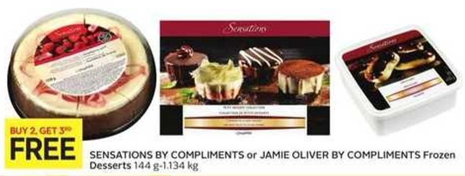 Sensations By Compliments or Jamie Oliver By Compliments Frozen Desserts 144 G-1.134 Kg