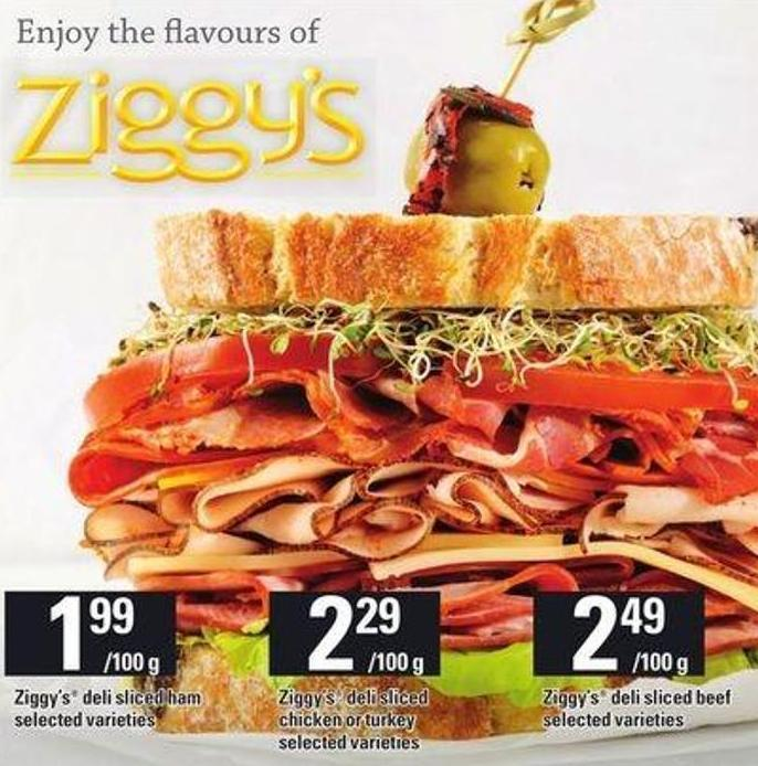 Ziggy's Deli Sliced Ham
