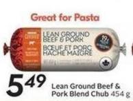 Lean Ground Beef & Pork Blend Chub 454 g