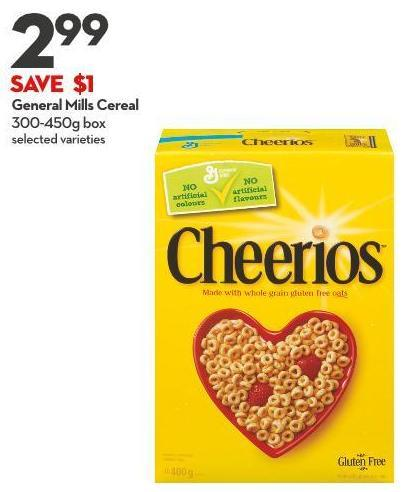 General Mills Cereal 300-450g Box
