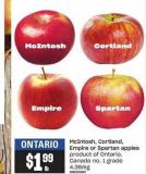 Mcintosh - Cortland - Empire Or Spartan Apples