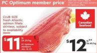 Club Size Fresh Atlantic Salmon Fillets