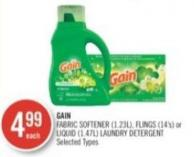 Gain Fabric Softener (1.23l) - Flings (14's) or Liquid (1.47l) Laundry Detergent