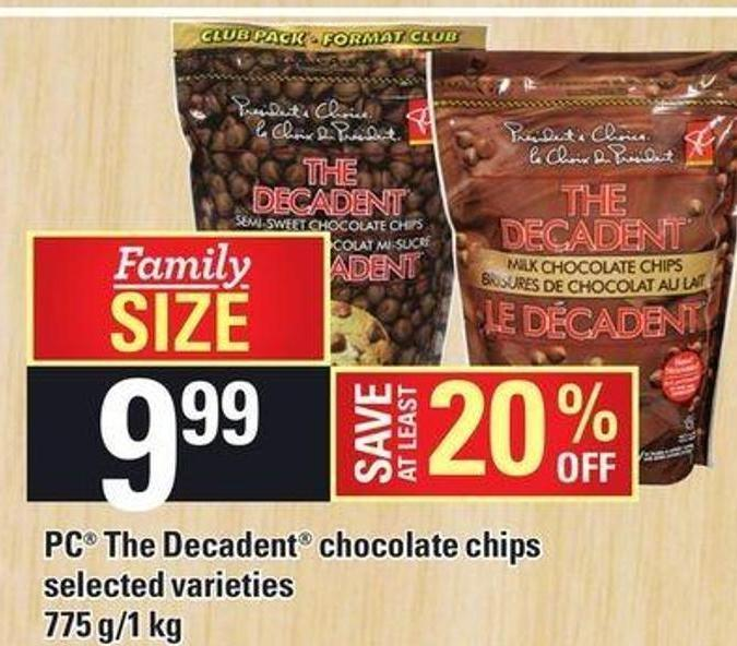 PC The Decadent Chocolate Chips 775 G/1