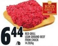 Red Grill Lean Ground Beef From Chuck