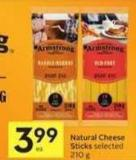Natural Cheese Sticks -40 Bonus Air Miles